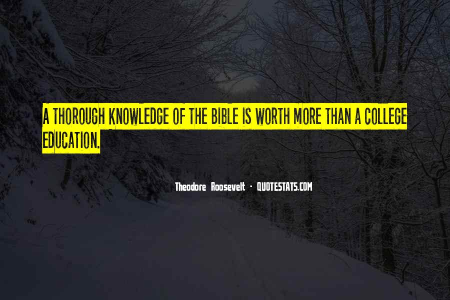 Quotes About Knowledge Bible #994411