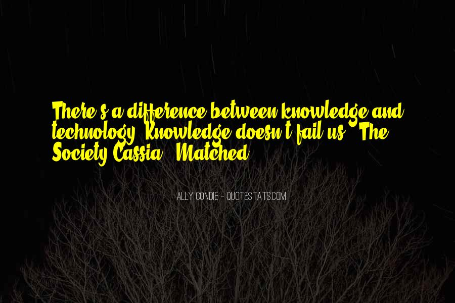 Quotes About Knowledge And Technology #1647480