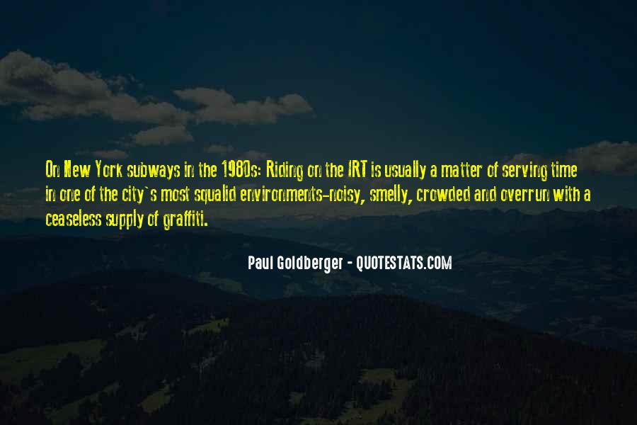 Crowded Cities Quotes #130116