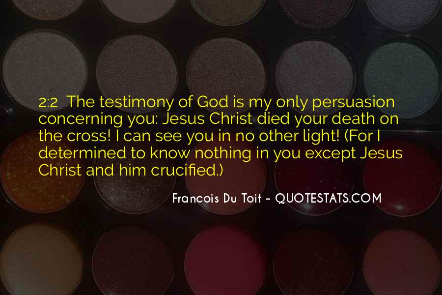 Crucified God Quotes #1706551