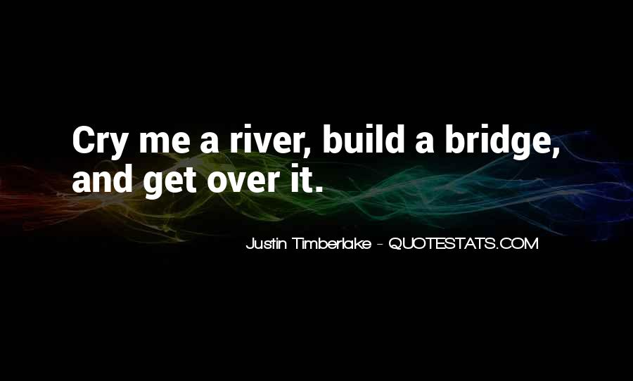 Cry Me A River Build A Bridge And Get Over It Quotes #76591