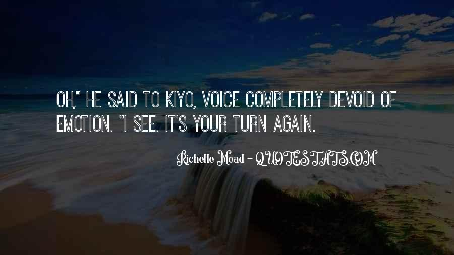 Quotes About Kiyo #988231