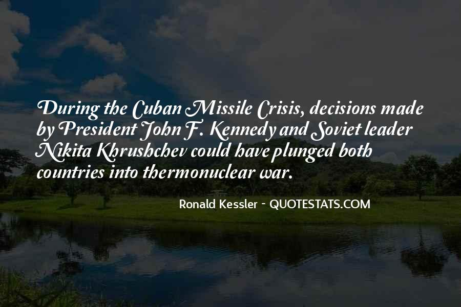 Cuban Missile Quotes #1640075