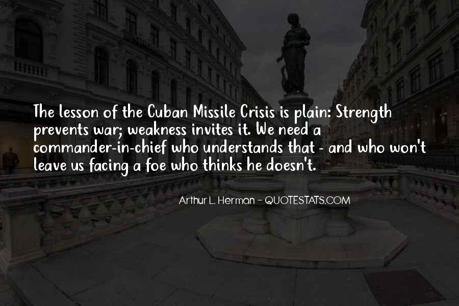 Cuban Missile Quotes #1746885