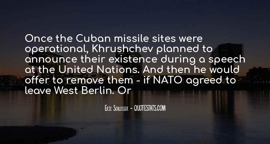 Cuban Missile Quotes #742063