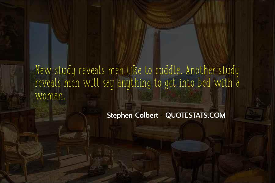 Cuddle In Bed Quotes #1561479