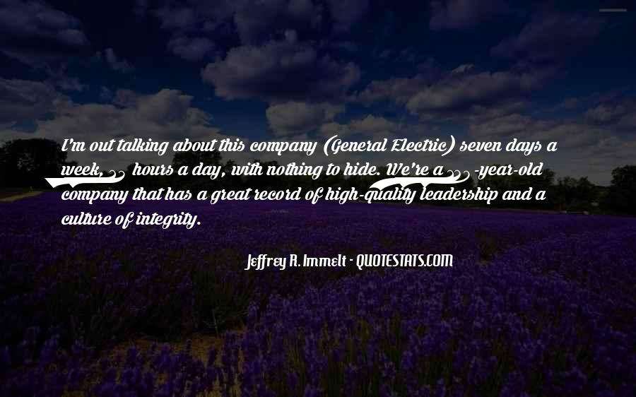 Culture Of A Company Quotes #1223260
