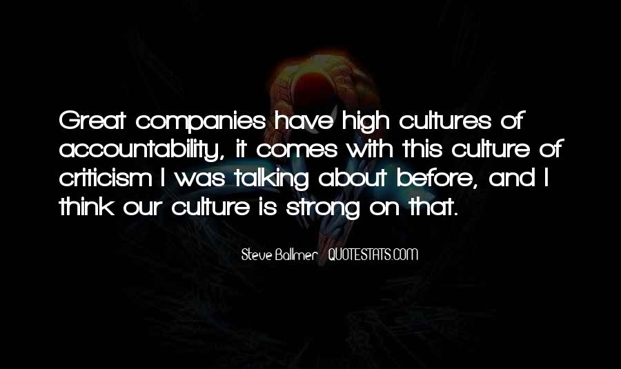 Culture Of Accountability Quotes #532067