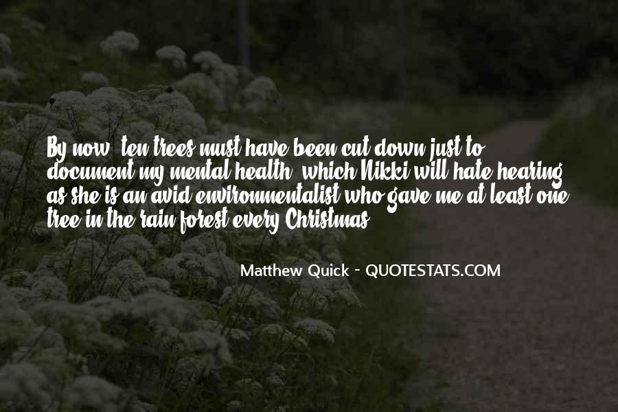 Cut Down Tree Quotes #1147226