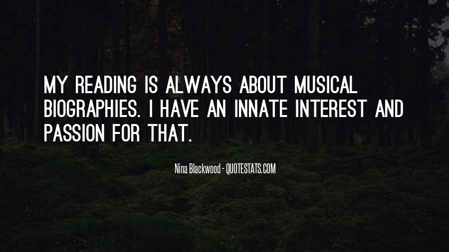 Quotes About The Passion Of Reading #1079583