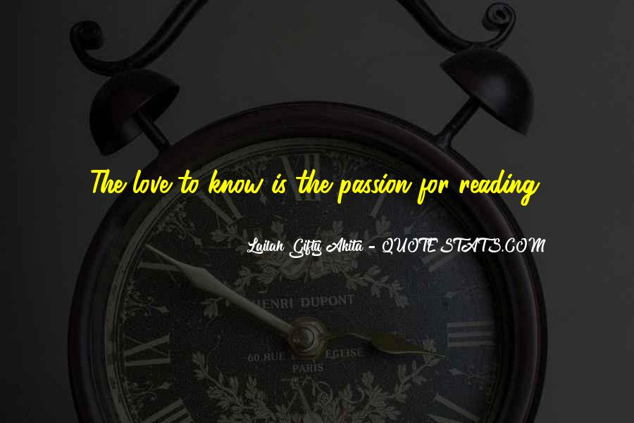 Quotes About The Passion Of Reading #1178154