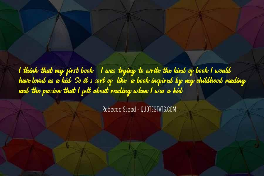Quotes About The Passion Of Reading #1262198
