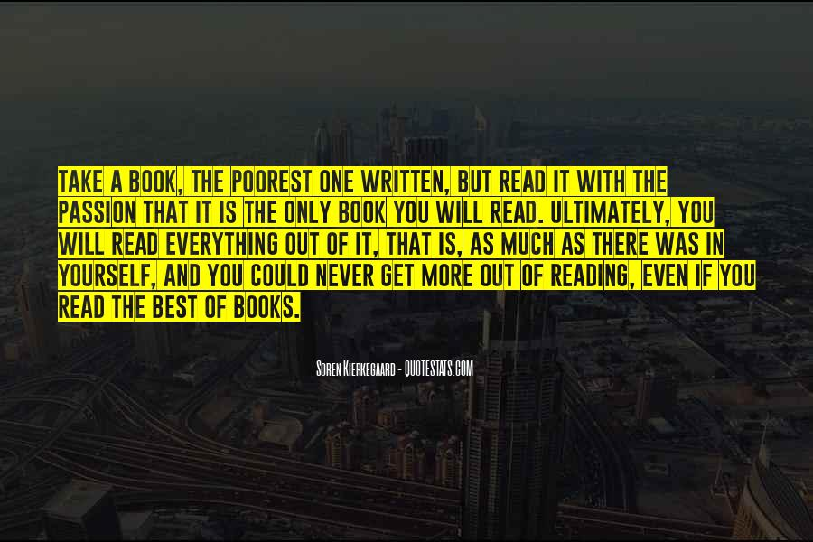 Quotes About The Passion Of Reading #1331010
