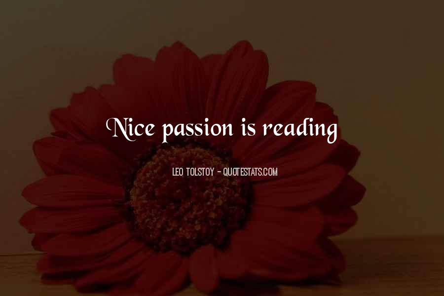 Quotes About The Passion Of Reading #321639