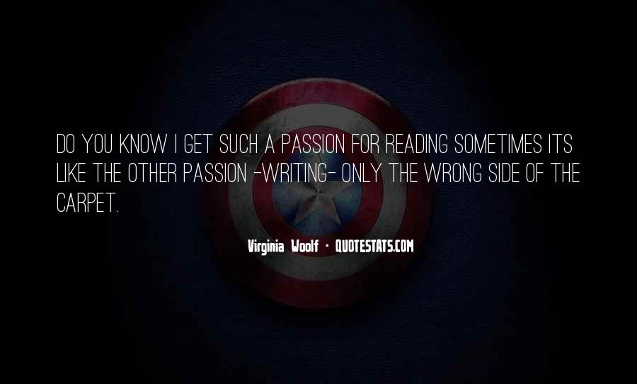 Quotes About The Passion Of Reading #468515