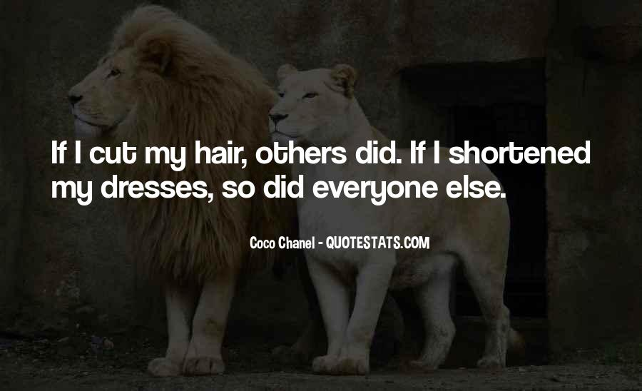 Cutting Off Hair Quotes #315599