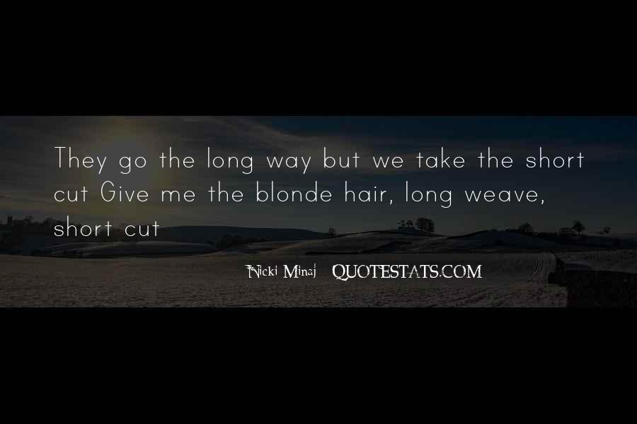 Cutting Off Hair Quotes #833211