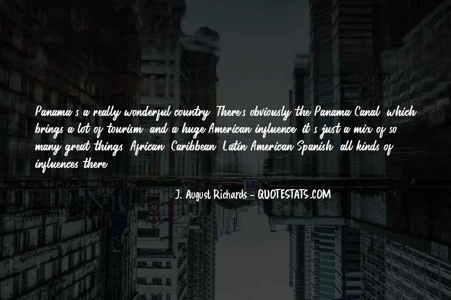 Quotes About The Panama Canal #115599