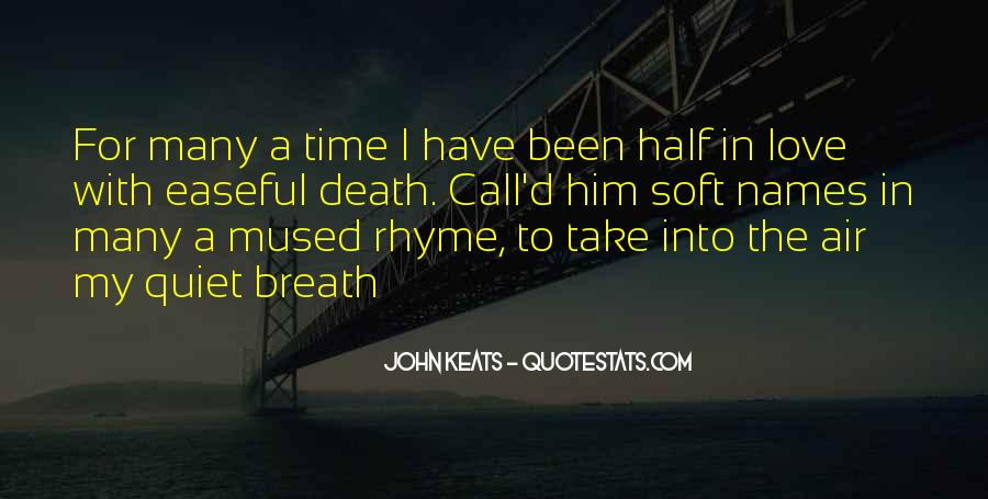 Quotes About Keats Time #227897
