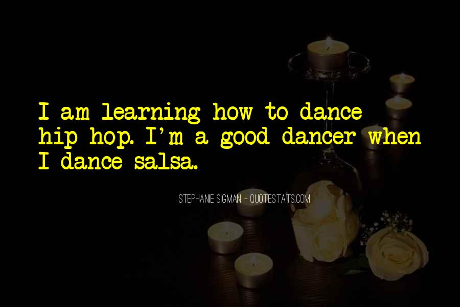 Dance Till Quotes #16940