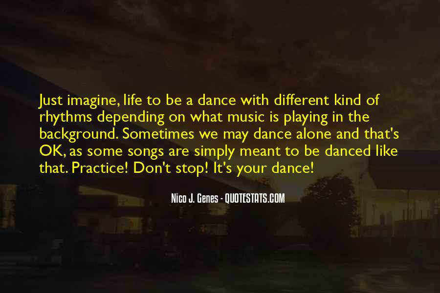 Dance With Your Love Quotes #1777352