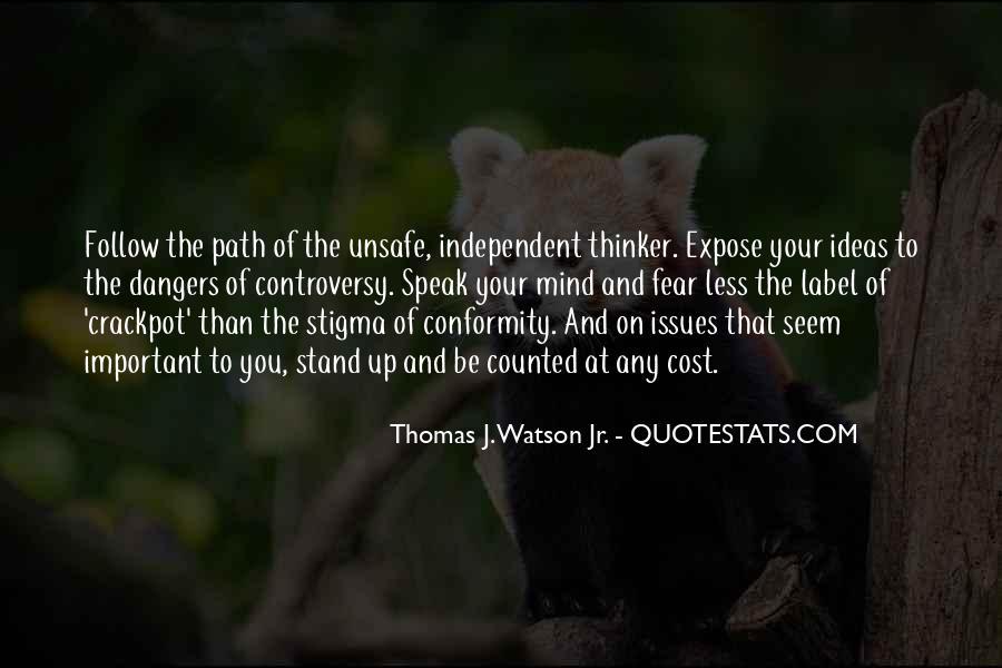 Dangers Of Conformity Quotes #577341