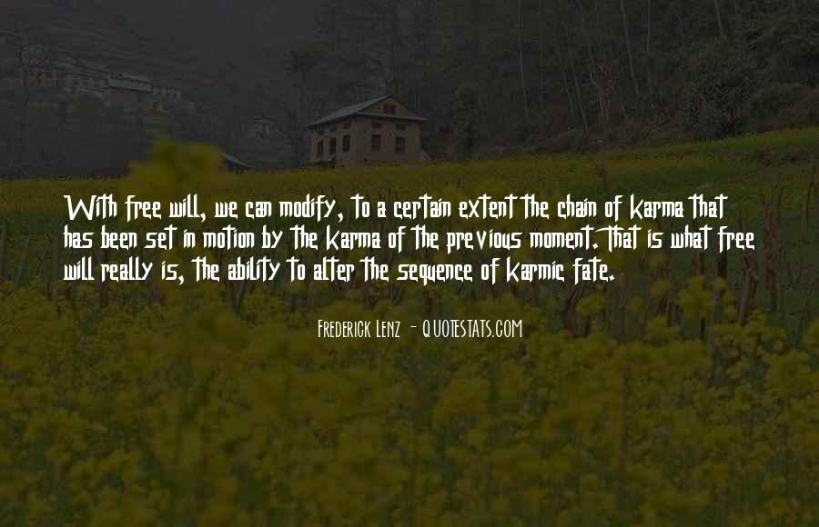 Quotes About Karma And Fate #1460913