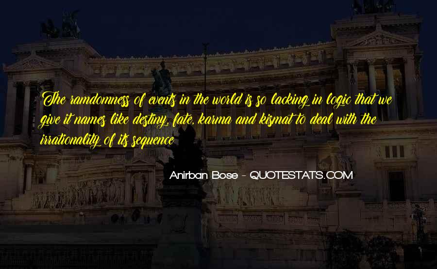 Quotes About Karma And Fate #1656726