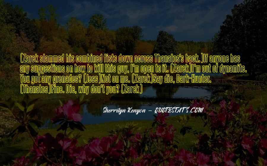 Dark Hunter Zarek Quotes #1101339