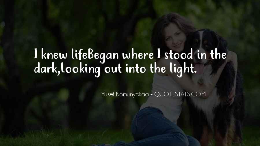 Dark Into Light Quotes #410378