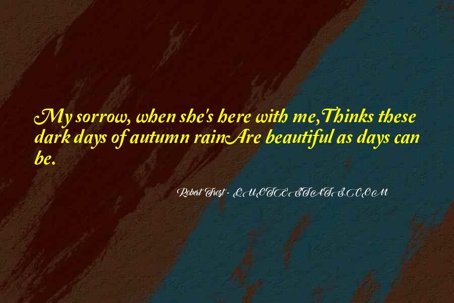 Dark Sorrow Quotes #1659265