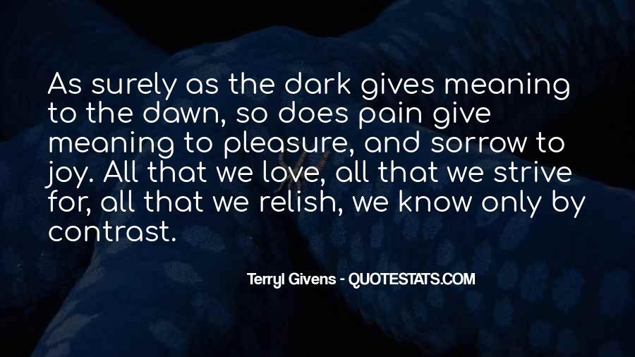 Dark Sorrow Quotes #43374