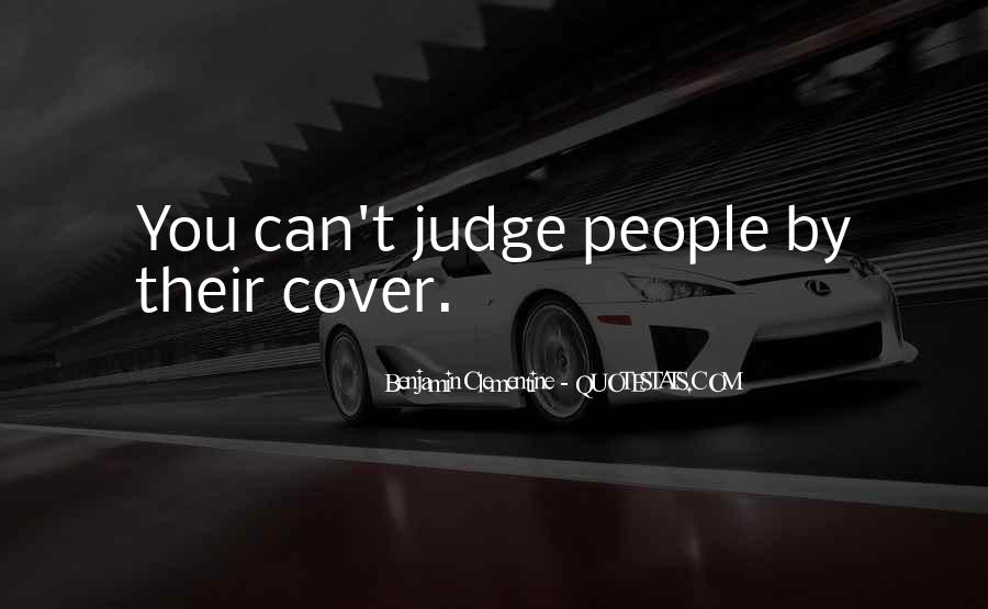 Quotes About Judging People #141651