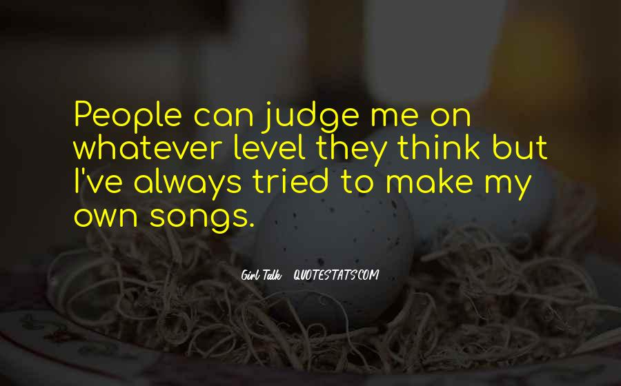Quotes About Judging People #228768
