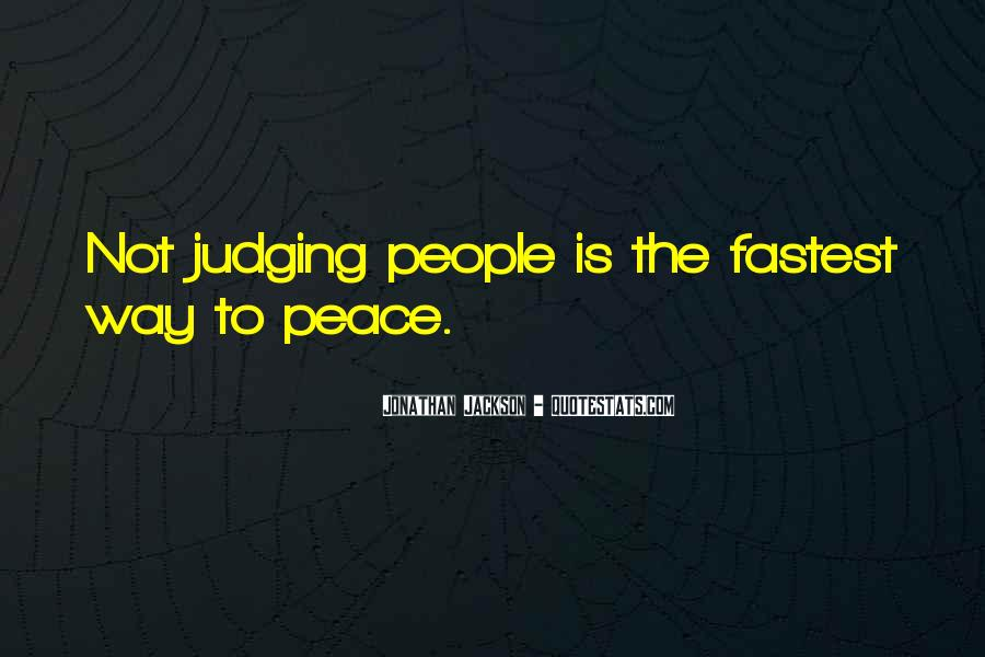 Quotes About Judging People #323154