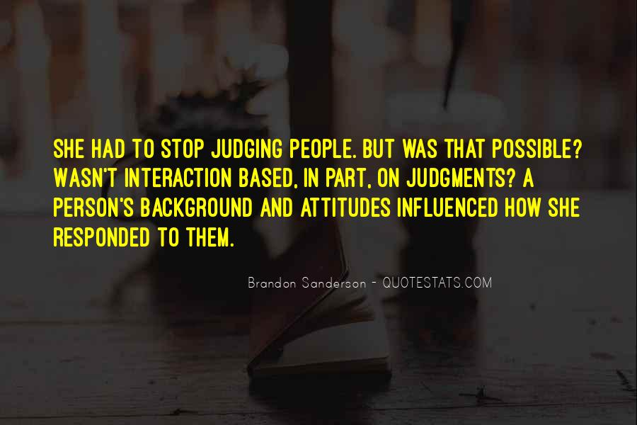 Quotes About Judging People #422834