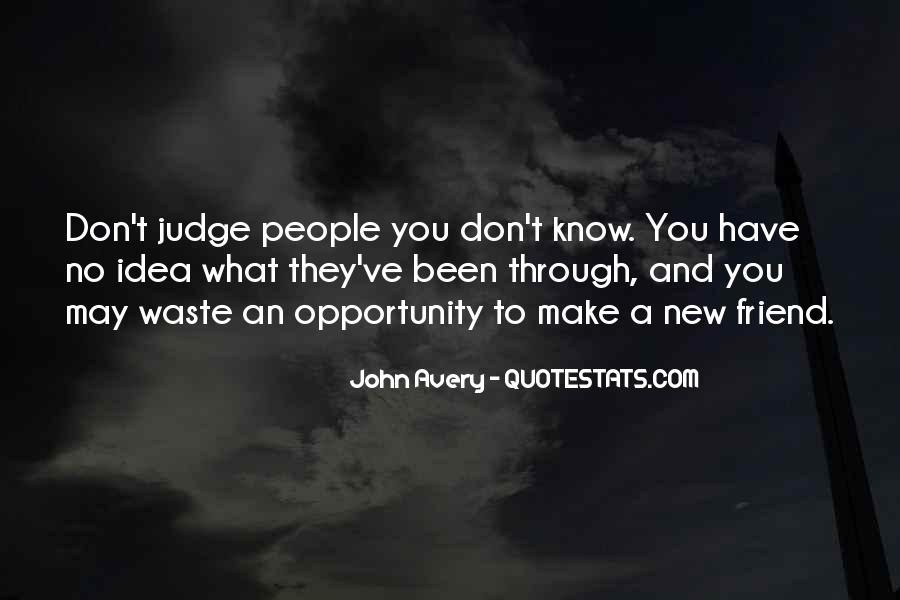 Quotes About Judging People #423549