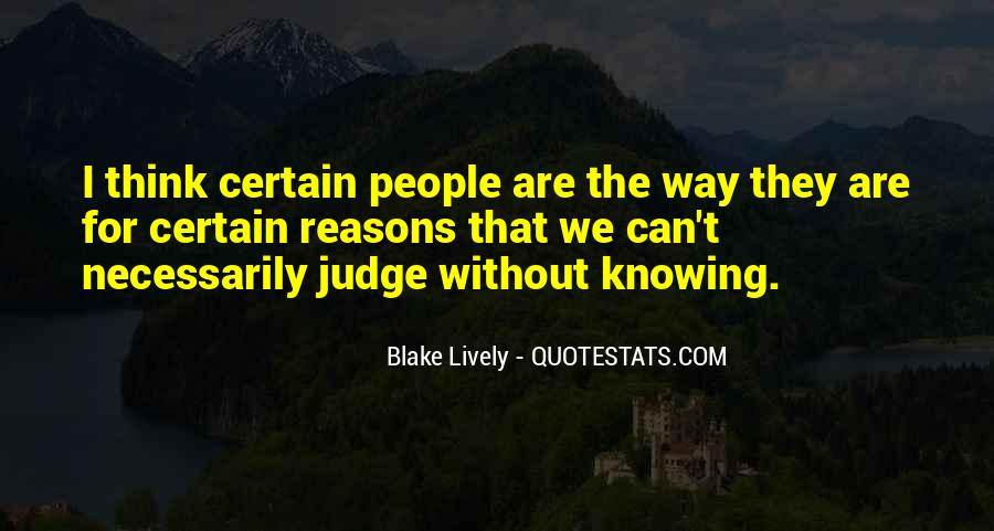 Quotes About Judging People #60440