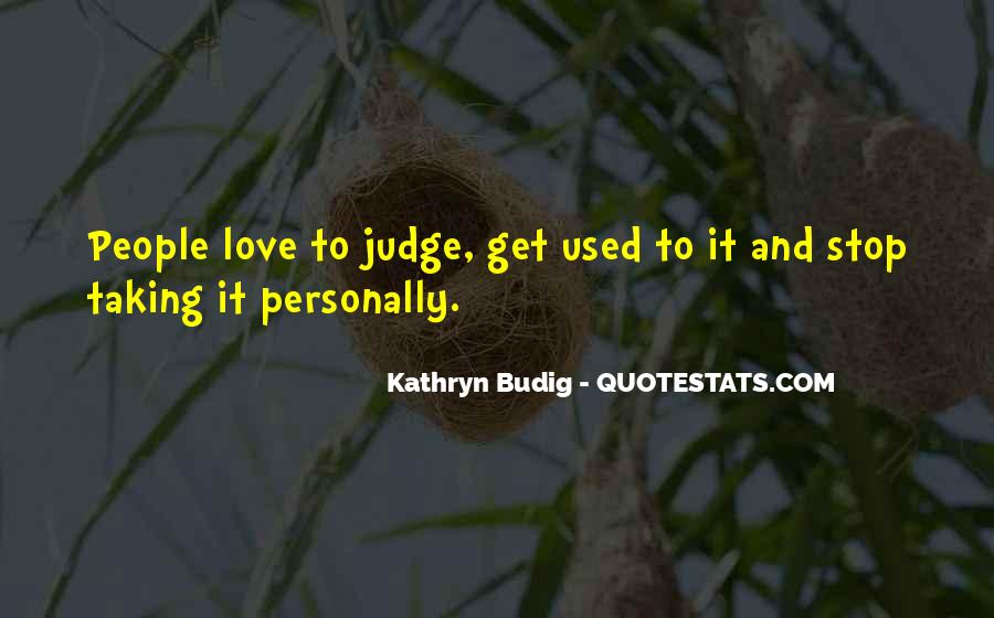 Quotes About Judging People #74260