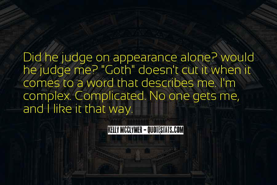 Quotes About Judgement Of Appearance #1194944