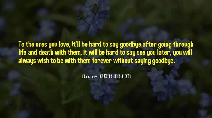 Death And Saying Goodbye Quotes #719943