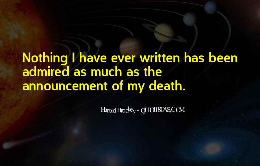 Death Announcements Quotes #346093