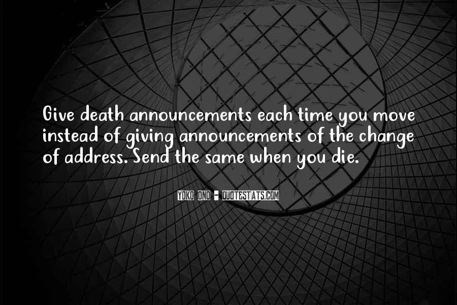 Death Announcements Quotes #60462