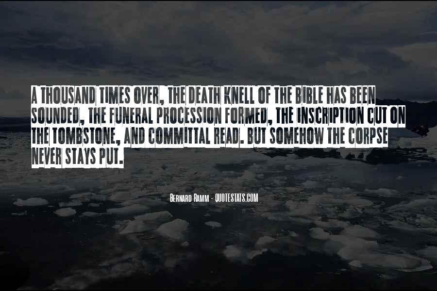 Death Knell Quotes #1237472