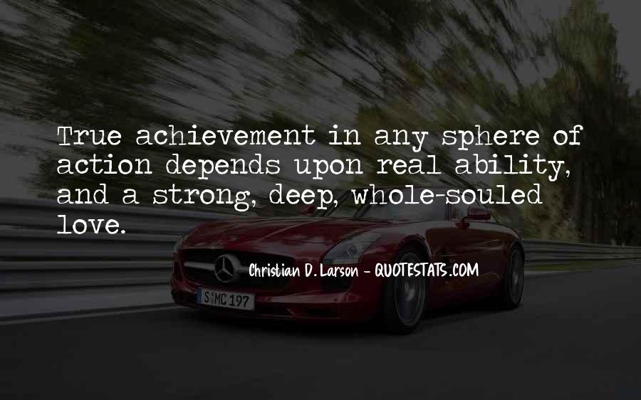 Deep And Strong Love Quotes #908924