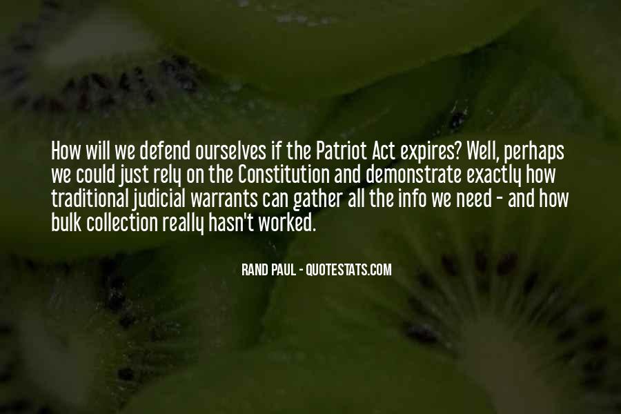 Defend The Constitution Quotes #138619