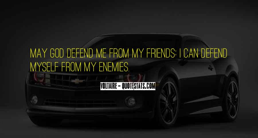 Defend Your Friends Quotes #830686