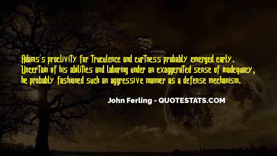 Defense Mechanism Quotes #1105884