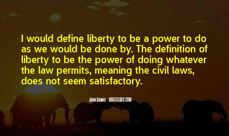 Definition Of Law Quotes #19175