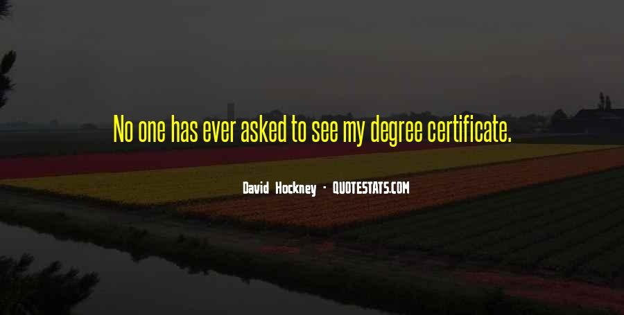 Degree Certificate Quotes #680347